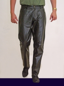 Higgs Leathers Jackson  (brown Leather Jeans for men)
