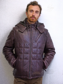 Higgs Leathers LAST ONE!  Purdom (men's leather Puffa jackets)