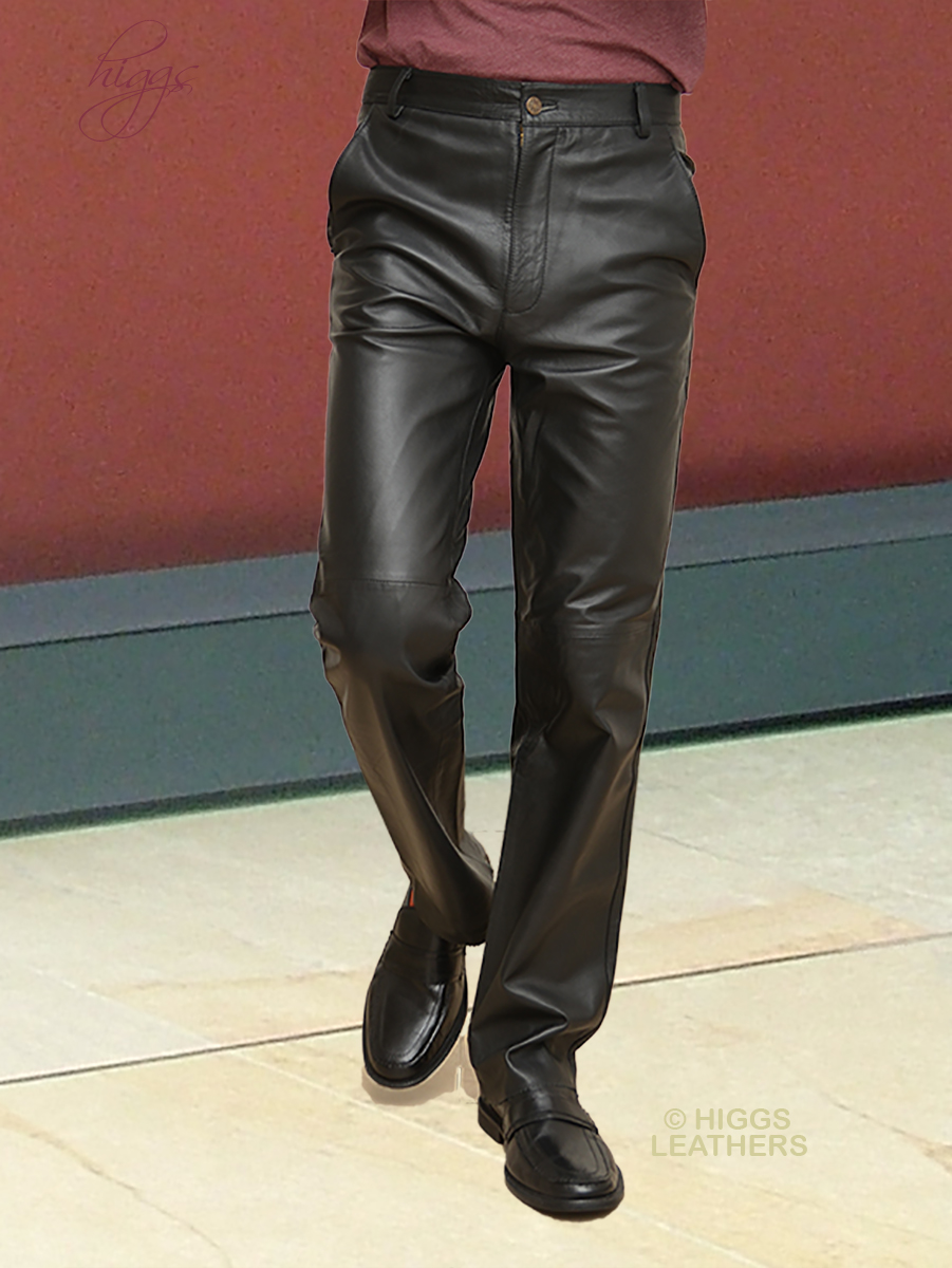 9c44166f77ac3e Higgs Leathers {} Tommy (Black Leather Trousers/Pants for men)