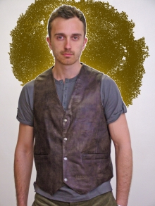 Higgs Leathers FEW ONLY! Jake (men's Brown Leather waistcoats)
