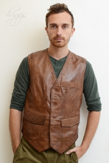 Higgs Leathers ALL SOLD!  Larry (men's Leather waistcoats)