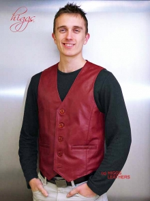 Higgs Leathers Ron (special quality men's leather waistcoats)