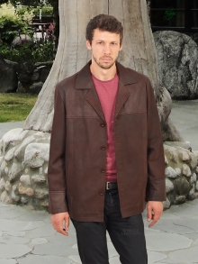 Higgs Leathers LAST FEW SAVE £100!  Brad (brown Nubuck leather jacket)