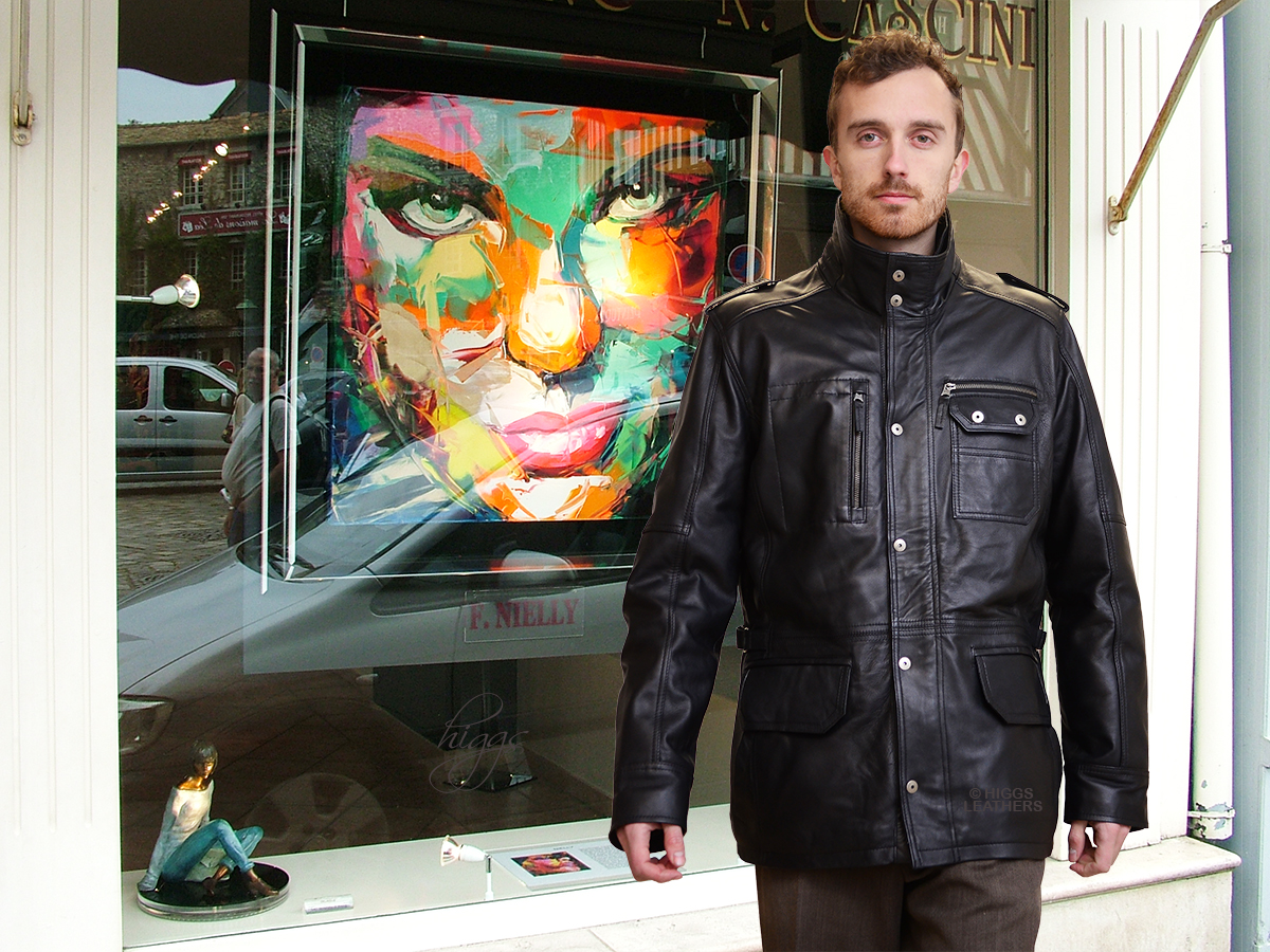 Higgs Leathers {}  Kingston (Black Leather Parka coats for men) WARM - SOFT - LIGHT WEIGHT - HARD WEARING - WHAT MORE DO YOU WANT?!!