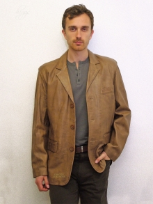 Higgs Leathers NEW!  Neil (men's Retro Leather Blazer jackets)