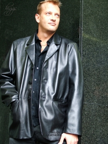 Higgs Leathers Robbie (Men's Retro Leather Blazer jackets )LAST FEW!