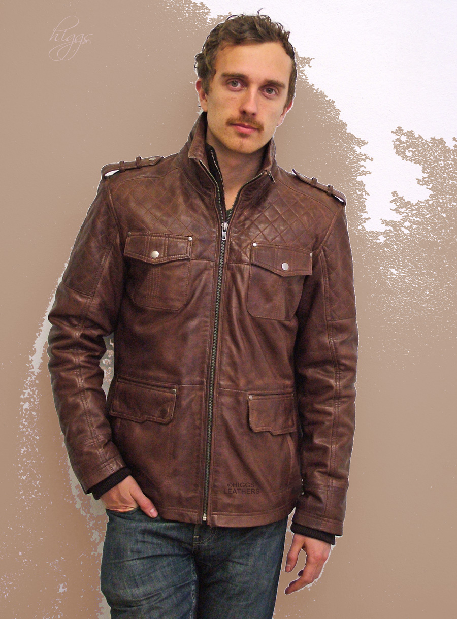 Higgs Leathers Buy Samuel Men S Quilted Leather Safari Jacket