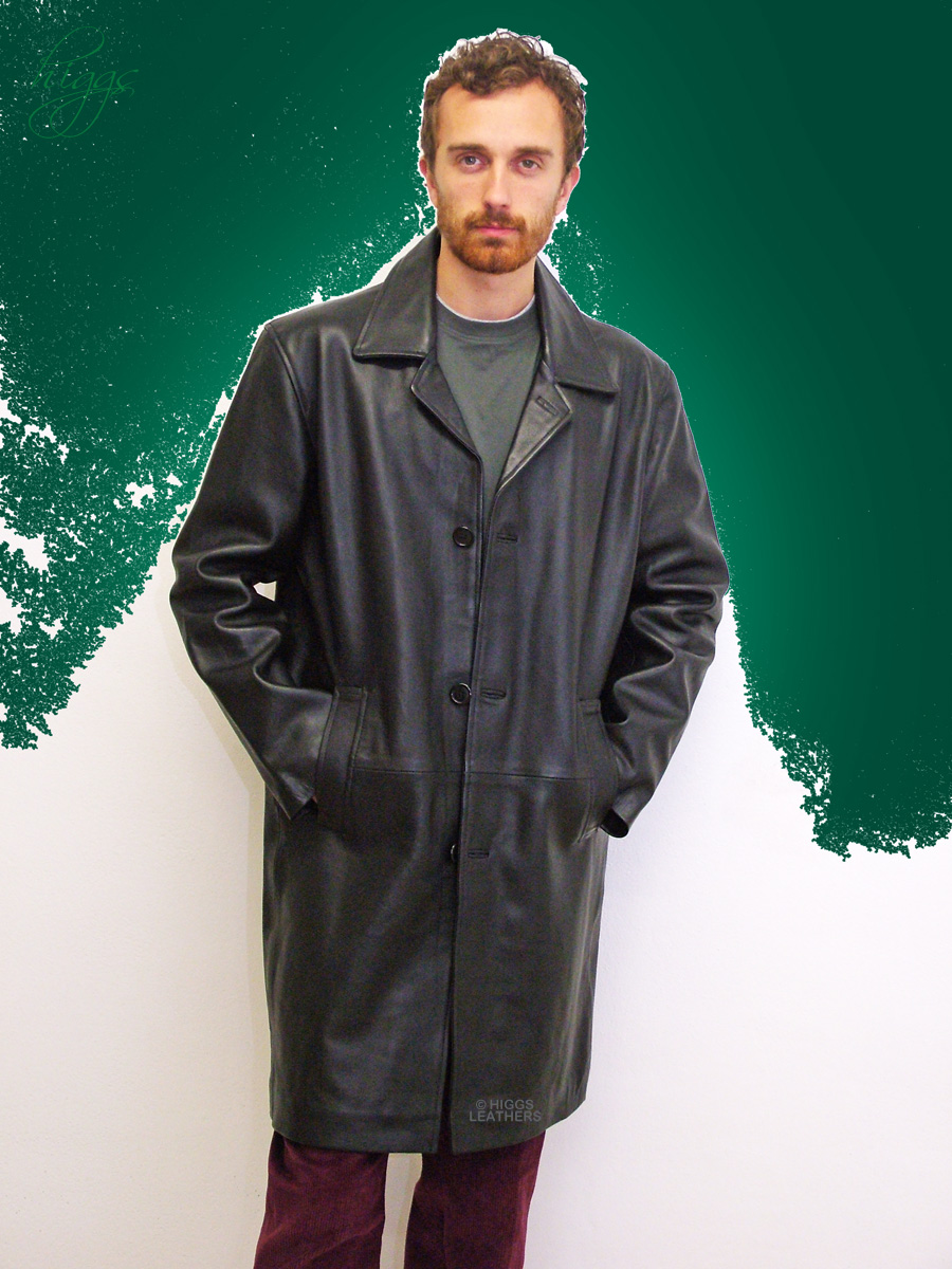 Higgs Leathers {NEW!}  Spencer (men's heavy quality Leather coats) SIZES UP TO 56' CHEST!