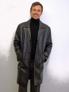 Higgs Leathers ALL SOLD!  Spencer (7/8th. length men's brown leather jackets)