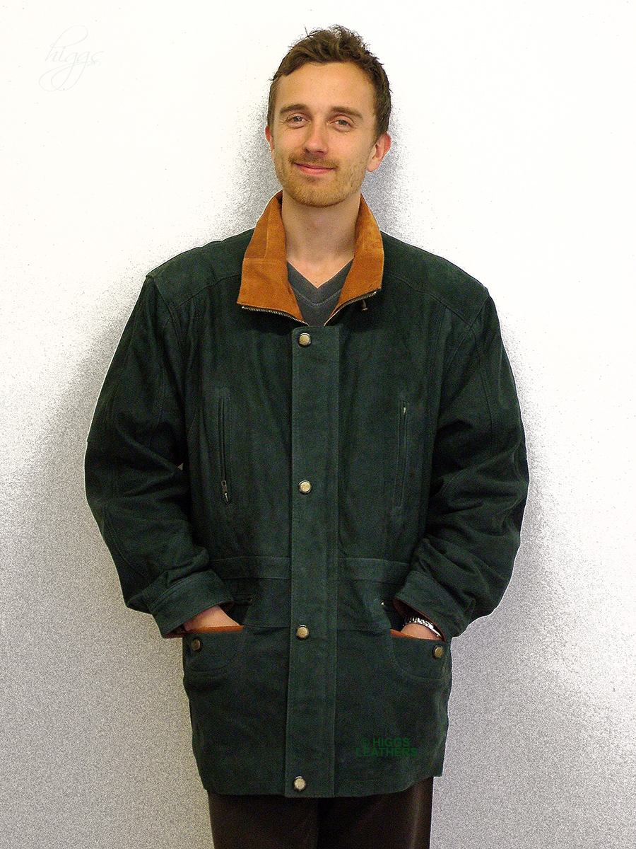Higgs Leathers {LAST FEW SAVE £84!}  Yates (two tone Nubuck Leather Parka coat) NOW UP TO 56' CHEST!
