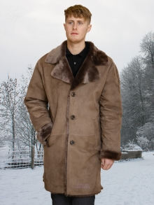 Higgs Leathers SAVE £300!  Alexandras (men's lightweight Merino Shearling coat)
