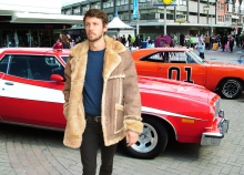 Higgs Leathers SAVE £100!  Del Boy (Outback style Sheepskin coats for men)