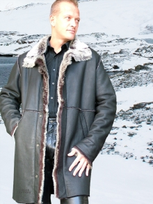 Higgs Leathers Gavin (Toscana trimmed men's Merino Shearling coat)
