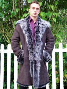 Higgs Leathers SAVE £200!  Harry (men's  Brown Toscana Shearling coat)