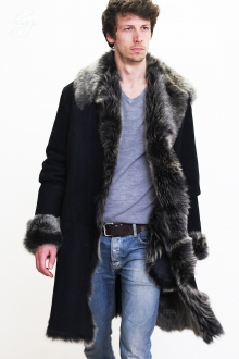 Higgs Leathers SAVE £200!  Harry (men's  Black Toscana Shearling coat)