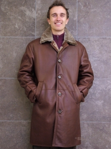 Higgs Leathers SAVE £100!  Ludovic (7/8th. length men's Merino Shearling coat)