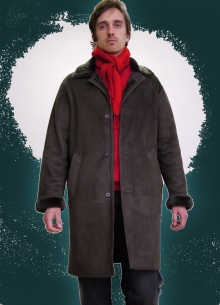 Higgs Leathers SAVE £100!  Rockford (men's Merino Shearling coat)