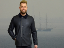 Higgs Leathers NEW!  Peter (men's Black Shearling coats)