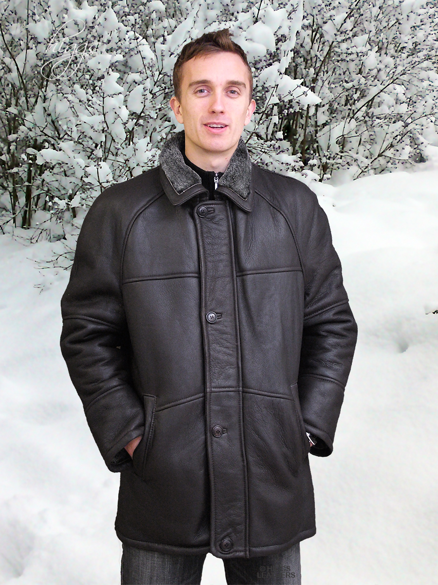 Higgs Leathers LAST ONE SAVE £100! Randall (3/4 length men's sheepskin coat)