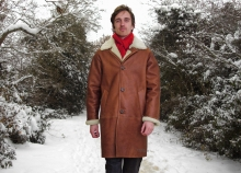 Higgs Leathers Rockford (Men's Nappa Merino Shearling coat)