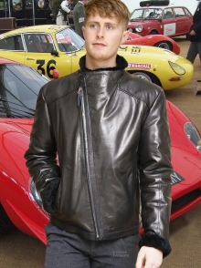 Higgs Leathers SOLD!  Albie  (men's Black nappa flying jacket)