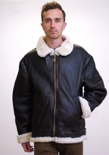 Higgs Leathers SAVE £100!  Gunner  (mens Sheepskin flying bomber jacket)