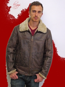 Higgs Leathers SAVE £110!  Hurricane (men's sheepskin flying bomber  jacket)