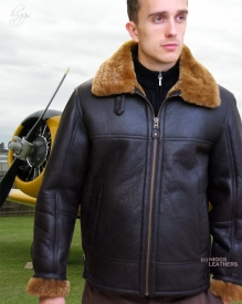 Higgs Leathers LAST FEW SAVE £110!  Hurricane (men's sheepskin flying jackets)