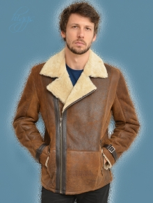 Higgs Leathers NEW!  Colin (men's Shearling Flying jacket)