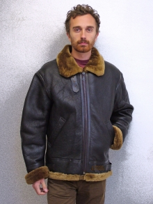 Higgs Leathers SAVE £60!  Gunner (men's Sheepskin flying jacket)