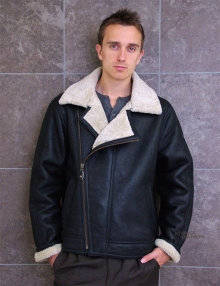 Higgs Leathers SAVE £100!  Invader (men's Sheepskin Bomber jacket)