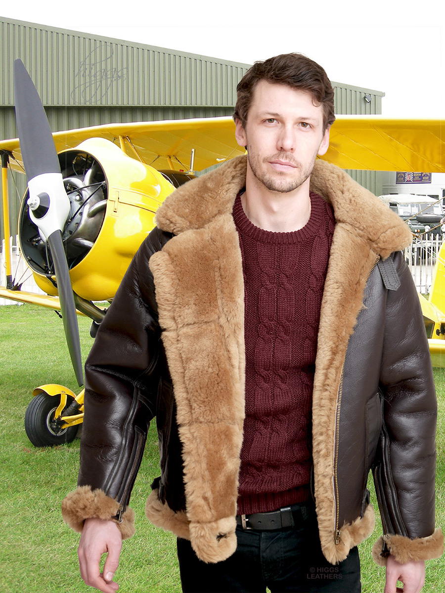 Higgs Leathers {36' to 48' chest}  Mosquito (Top quality Sheepskin RAF flying jacket) LIMITED OFFER WHILE STOCKS LAST!