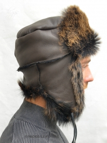Higgs Leathers FEW ONLY!  Klondike (men's Toscana Shearling trapper hat)