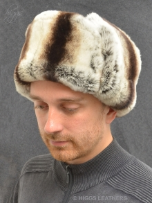 Higgs Leathers ONE ONLY!  Klondike (men's Luxury Rex Rabbit trapper hat)