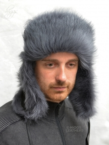 Higgs Leathers ONE ONLY!  Klondike (men's Luxury Shearling trapper hat)