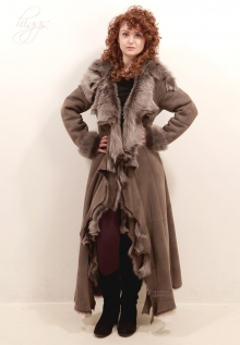 Higgs Leathers {32' to 44' bust}   Anitas (ladies hooded Designer Toscana Shearling co Casually sublime!